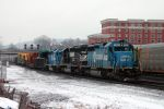An eastbound high and wide move passes Altoona, PA