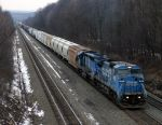 Eastbound 10N climbs the West Slope just East of Portage, PA with a CEFX unit trailing