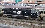 NS 2600 passes the Amtrak station