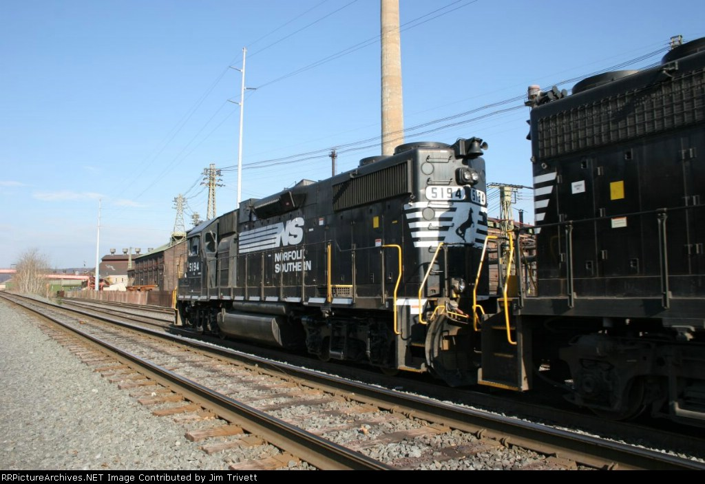 NS 5194 passes Wheeling-Pitt steel with a local
