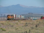 WB stacks head thru Baca NM interlocking