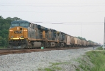 NB phosphate train waiting for SB coal to clear Rice jct
