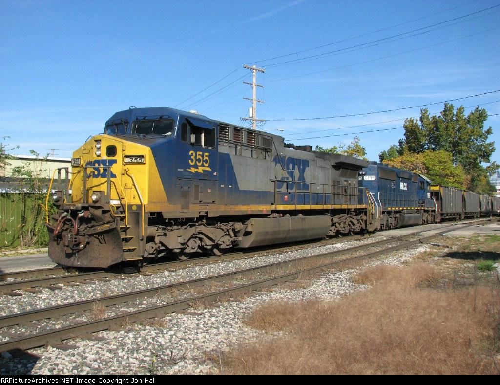 CSX 355 & HLCX 7195