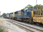CSX 8503 trails westward