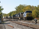 Q326-10 rolls into the yard with CSX's next 2 new Genset's in tow