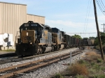 CSX 8086 & 9037 lead K357-10 westward out of Sunnyside