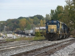 CSX 8058 leads Q335-13 out of Plaster Creek and up the Even Lead