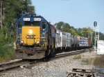 CSX 8524 & 8511 leads Q326-14 past Seymour and off of the double track