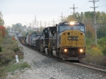 CSX 8740 & NS 9549 power Q335-15 west past milepost 145