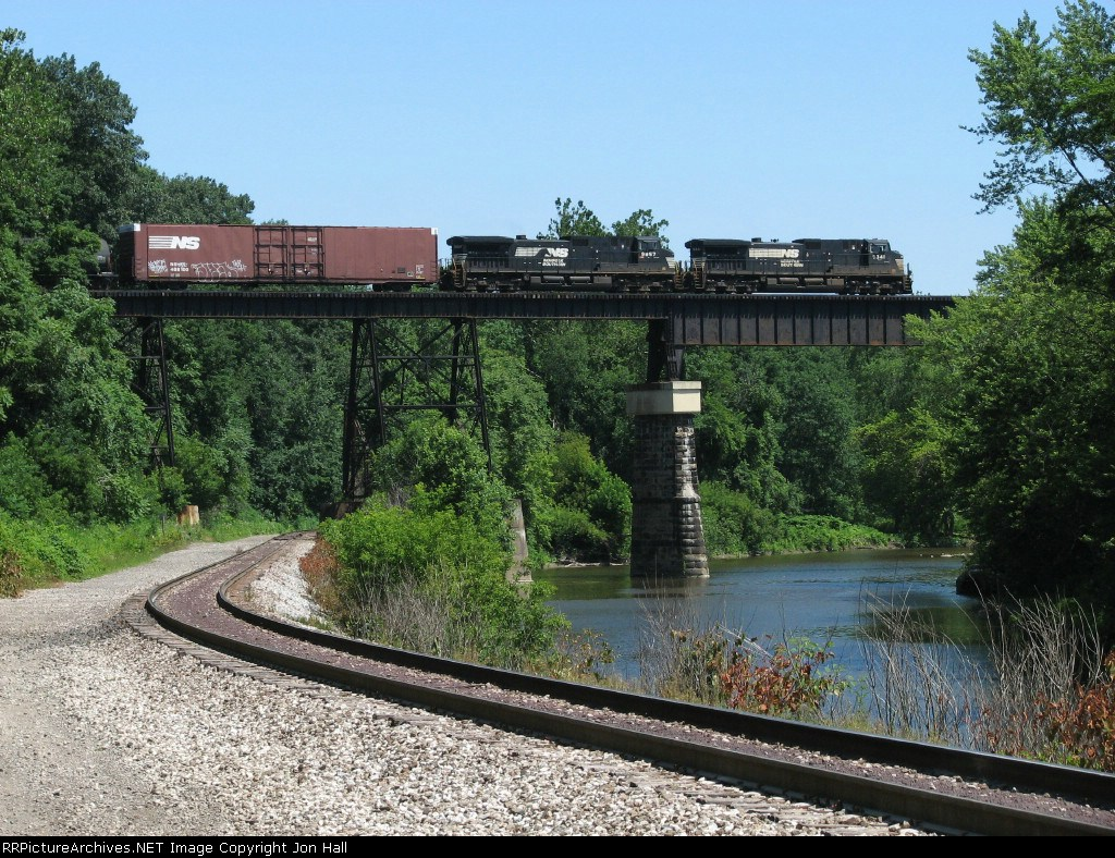 310 rolls east over Conneaut Creek