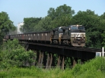 NS 9341 & 9857 bring 310 over the trestle