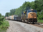 CSX 4703 & 44 charge east with Q386