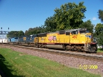 UP 4817 and CSX mates leads eastbound manifest