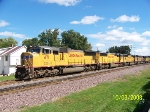 UP 4711 leads herd of UP engines west