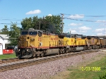 UP 6553 leads westbound empty coal train