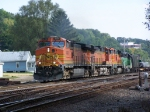 Three GE's and a Green Oddball Take a Westbound Manifest Toward LaCrosse