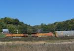 BNSF 4775 Leads a Z Train West