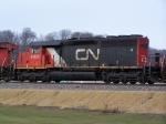 CN 6025 is an Rare SD40-2Q