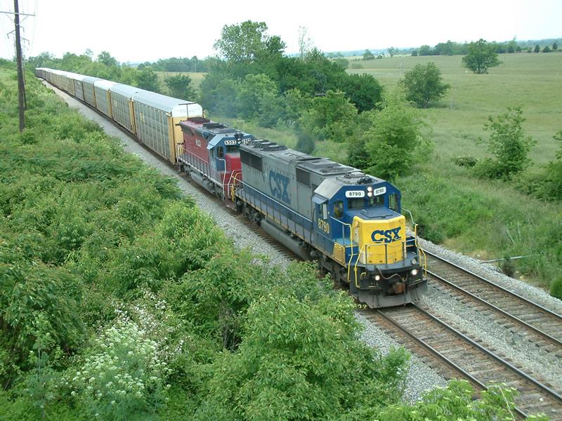 CSX SB rack train