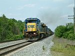 CSX 7589 leads a SB coal train