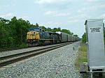 CSX 9034 leads a rack train