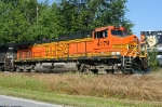 BNSF 4179 pushing rock train into the Reams plant