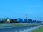 UP 8215 & Hanjin containers