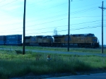 UP units on eastbound intermodal