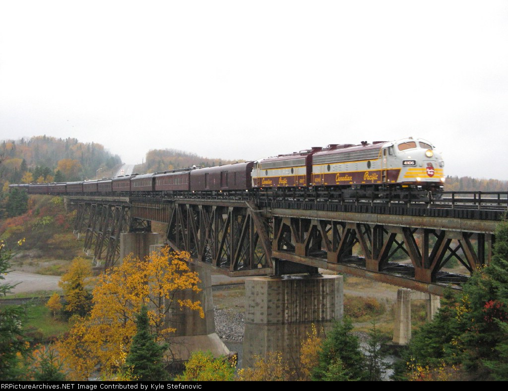 The Royal Canadian Pacific Crossing over the Nipigon River and the Old CN Kinghorn Subdivision