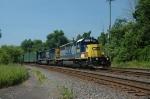 CSX empty trash train at CP Belmont