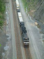 NS SB Intermodal passing through the cut