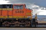 BNSF 5469 West, Cab-Shot