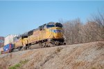 UP 4673 and GECX 2875 on the CSX W&A Sub heading south