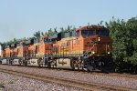 BNSF 6602 West With A Wave
