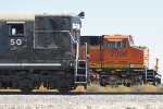 NS 50, BNSF 7396 East Cab-Shots