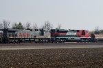 KCS 4586, FXE 4081 Westbound