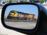 BNSF 8738 Through the Mirror