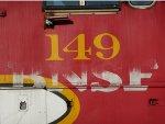 BNSF 149 Numberboard