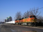 BNSF 5138 On NS 25 Eastbound