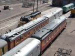SP passenger cars in Cheyenne yard