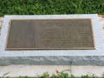 Dedication plaque for the old water tower