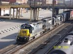 CSX train 545 heads'm south with a couple of horses.