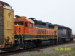 Back view of BNSF 2795 on NS train 270