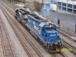 Nice ex Conrail on NS city job head'n back to it's cars.