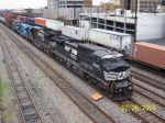 NS northbounder passes CSX train