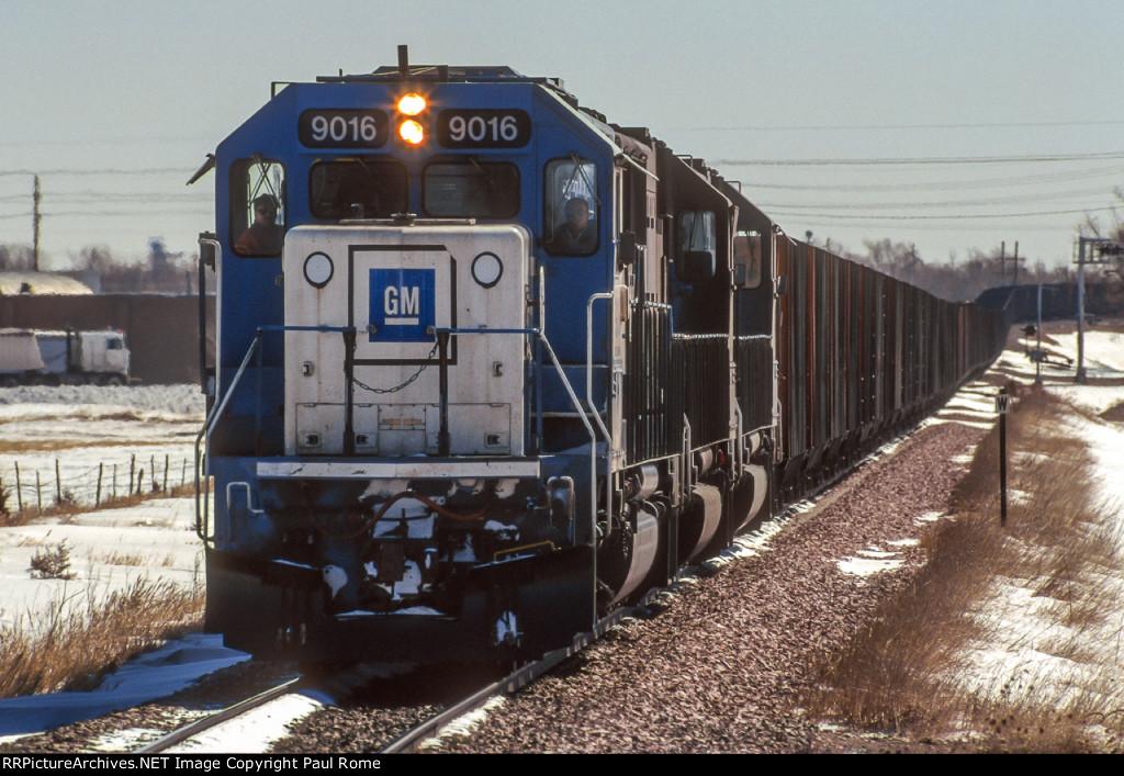 OWY 9016, EMD SD60, westbound empties