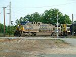 CSX 380 leads a coal train on the P&N