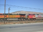 BNSF engines #4126 & 770 in Tehachapi