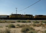 2 UP locomotives sitting in Mojave