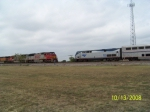 AMTRAK P42DC 153 & BNSF SD75M 8263